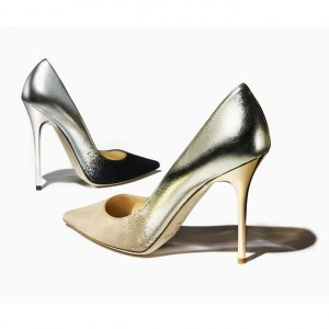 I Want – Jimmy ChooAnouk and Abel Degradé Metallic Leather and SuedePumps