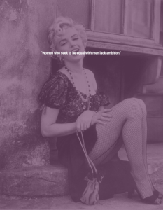Marilyn Monroe On Ambition