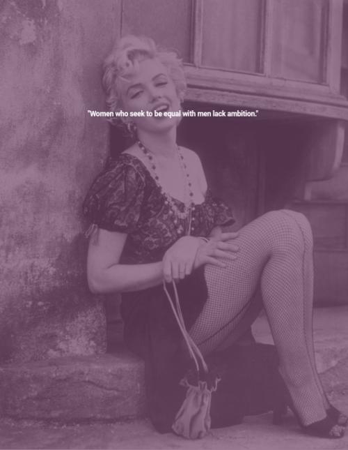Marilyn Monroe On Ambition