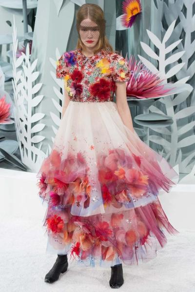 A look from Chanel's Spring-Summer 2015 Haute Couture Collection.