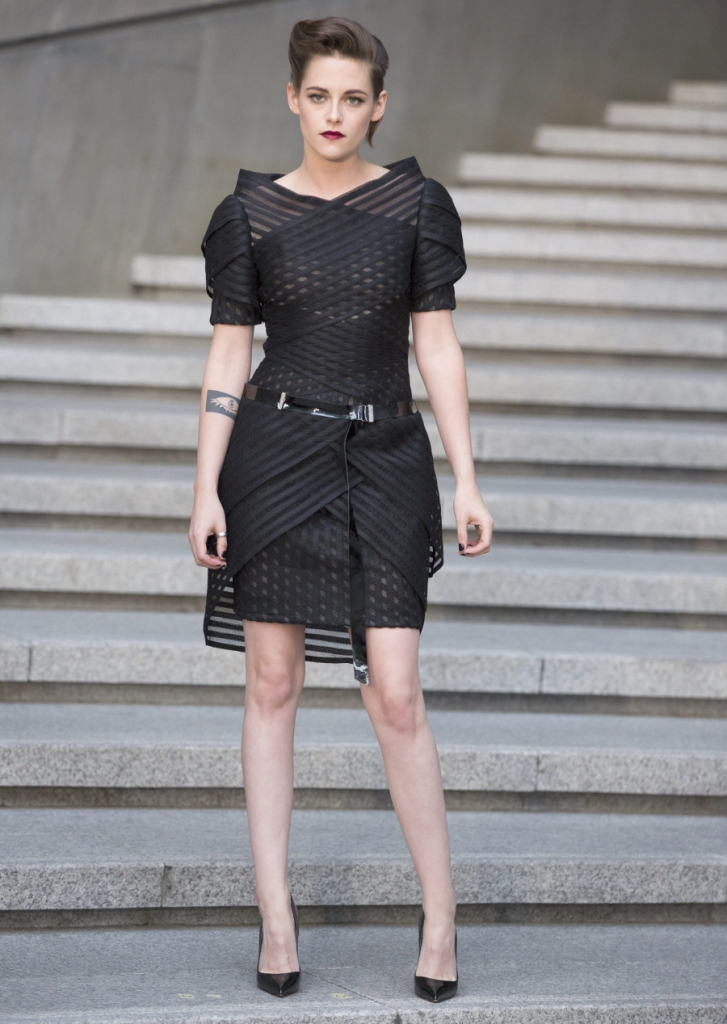 Kristen Stewart wearing a look from the Chanel