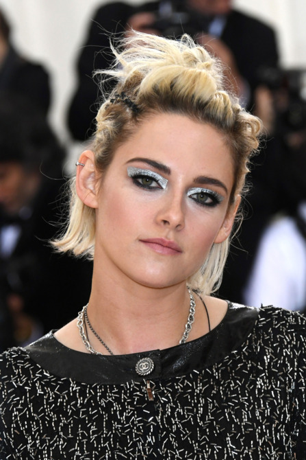 Kristen Stewart in Chanel at the Met Gala 2016 event.